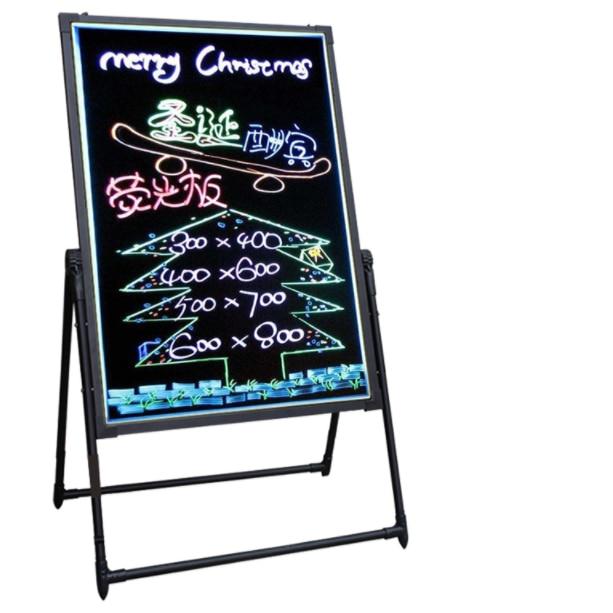 Letreros para restaurante al aire libre luz al aire libre pizarra led tablero de escritura pantalla