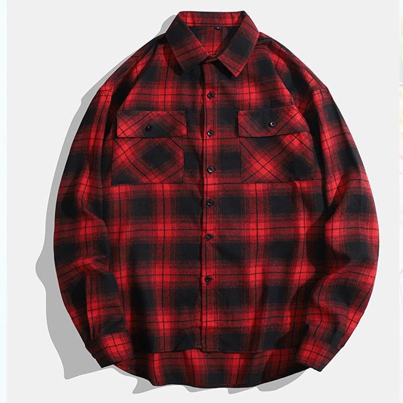 Рубашки оригинальная хлопковая рубашка мужские рубашки рубашка в клетку мужская одежда мужские модные клетчатые Топы 2021 Повседневная Верх...