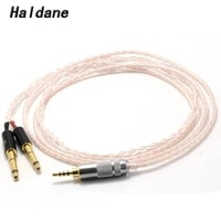 haldane 2 5mm balanced single crystal copper sivler mix replacement headphones upgrade cable for meze 99 classicsfocal elear