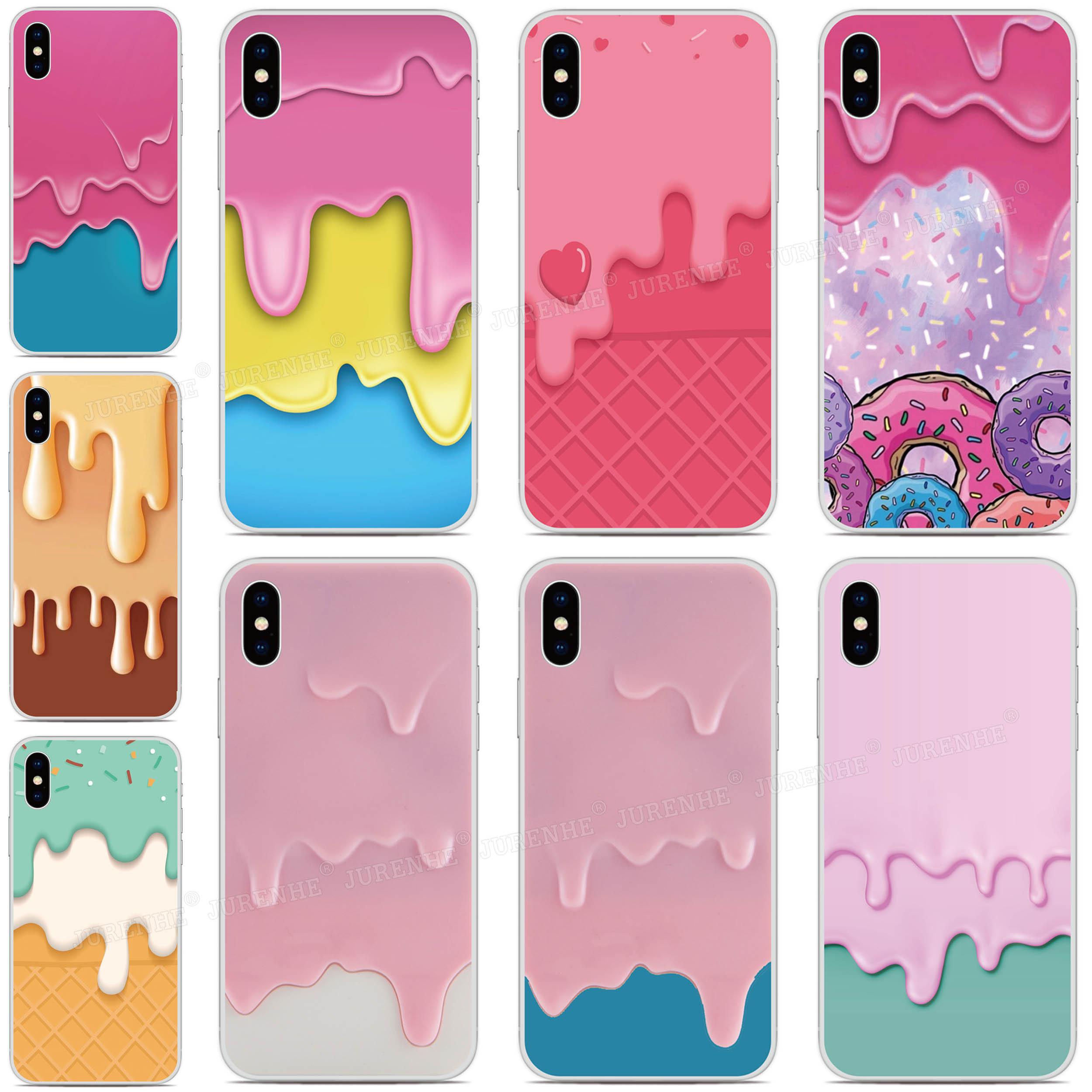 Melting Ice Cream Caso de Telefone Para Sony Xperia XZ5 5 XZ3 XZ2 XZ4 Compacto ACE XA3 XA2 XA1 Plus Ultra L4 L3 L2 20 8 10 1 II Cobertura
