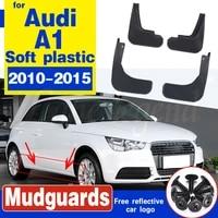 car mudflaps for audi a1 2010 2015 splash guards mud flap mudguards fender car front rear wheel accessories soft plastic