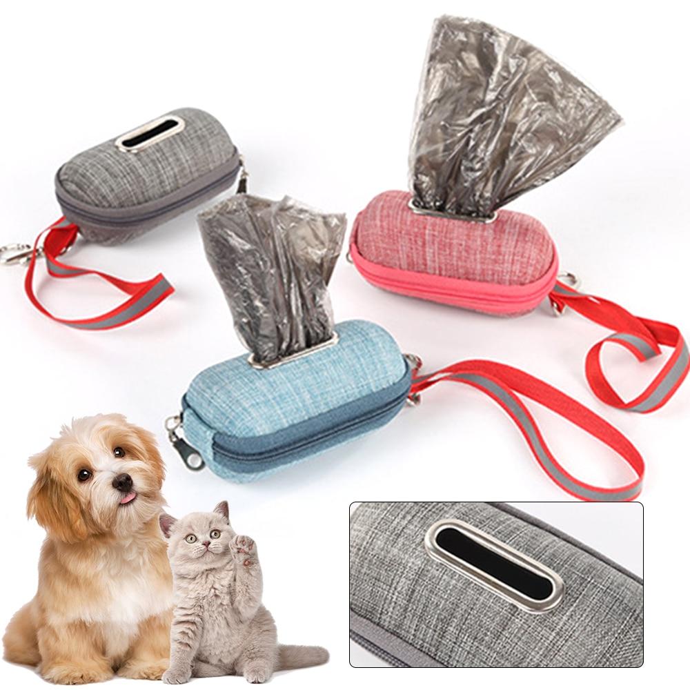 Dispensador de bolsas portátil para caca de perro o mascotas, soporte de...