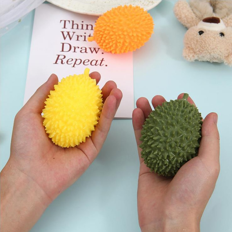 Fidget Toys Antistress Simulated  Spoofing Tricks Squeeze Toy Originality Mini Emulated Durian Squishy Reliever Pack Adults