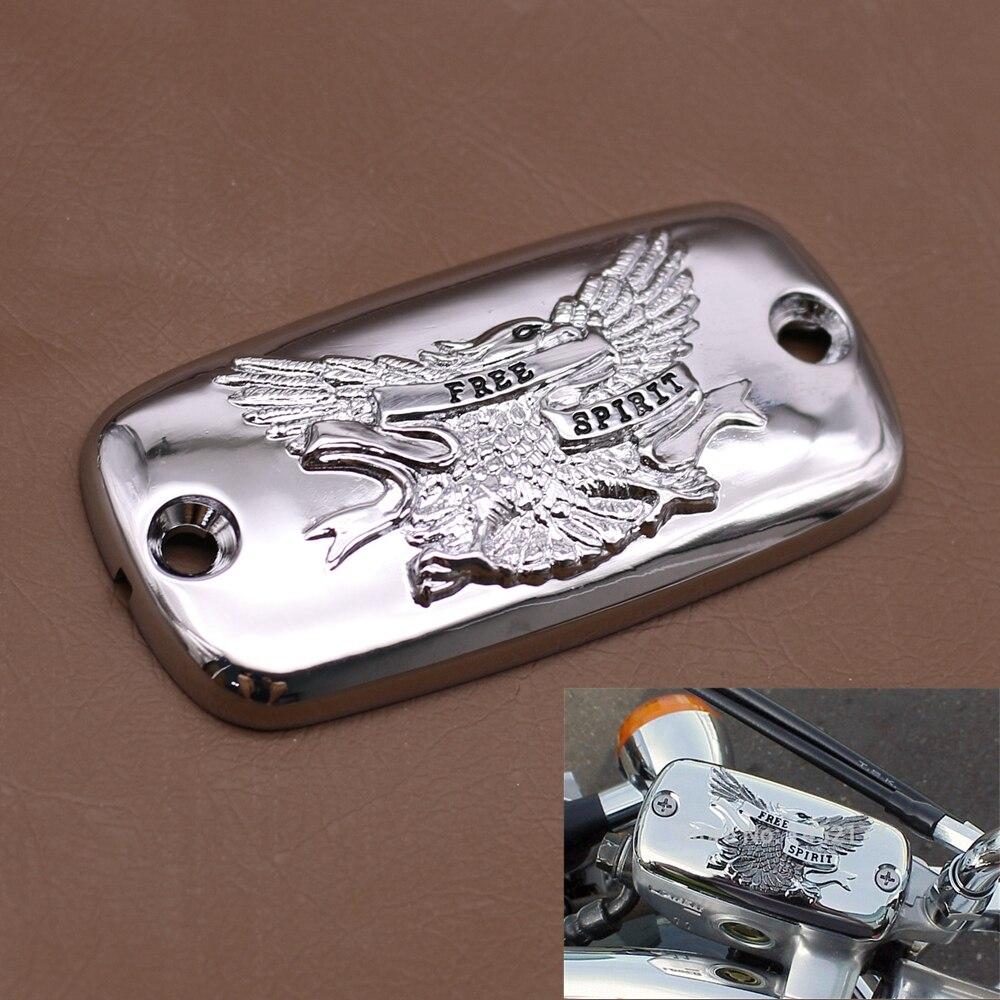 Motorrad Chrome Brems Flüssigkeit Reservoir Kappe Für Honda Valkyrie Goldwing 1500 1800 VTX 1800