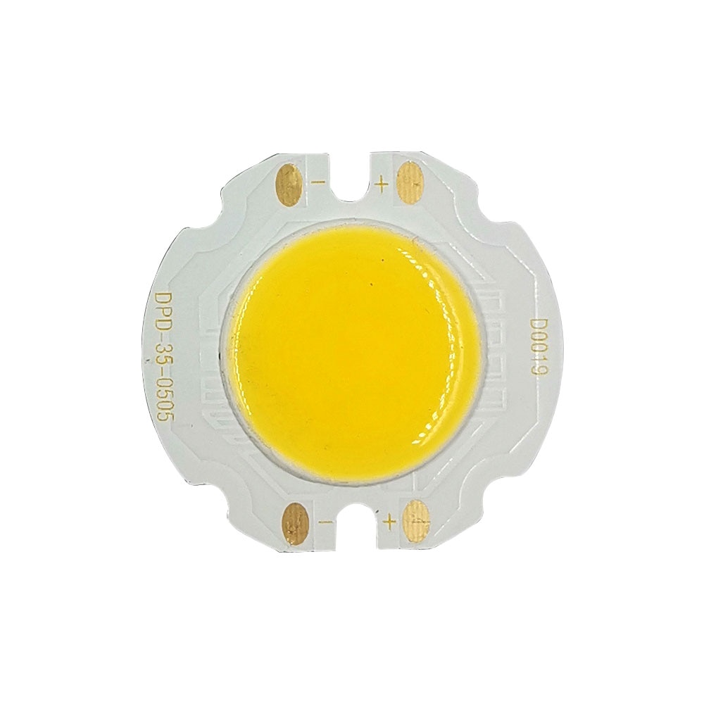 20 piezas 35mm redondo COB LED Chip 22mm superficie de iluminación 5W blanco frío cálido para foco LED techo lámparas 15V Chip a bordo