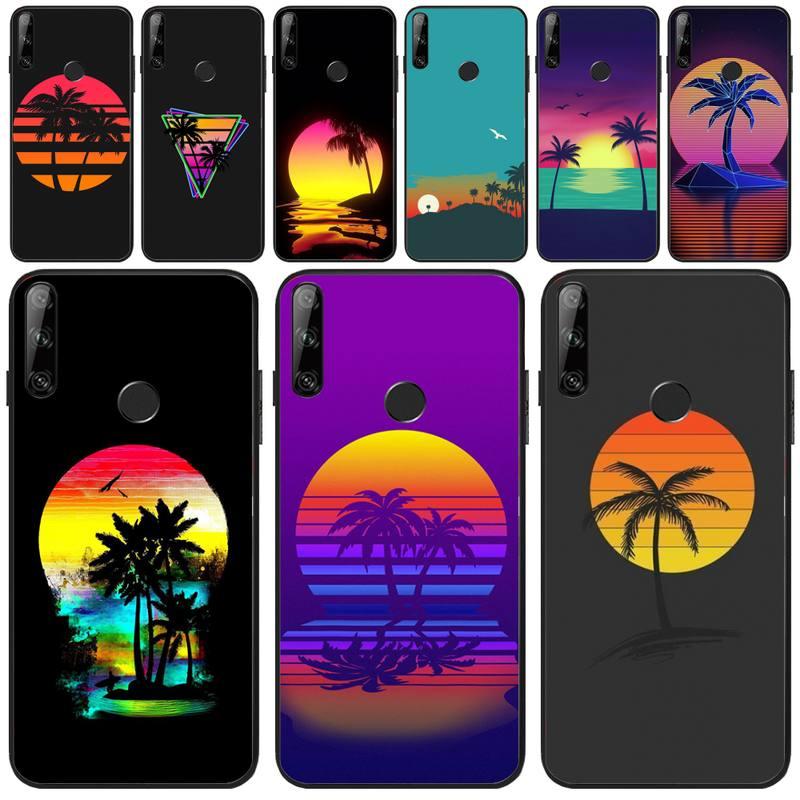 BaweiTE neo beauty coconut tree DIY Painted Bling Phone Case For Huawei Y5 Y6 Y7 Y9 Prime Pro II 2019 2018