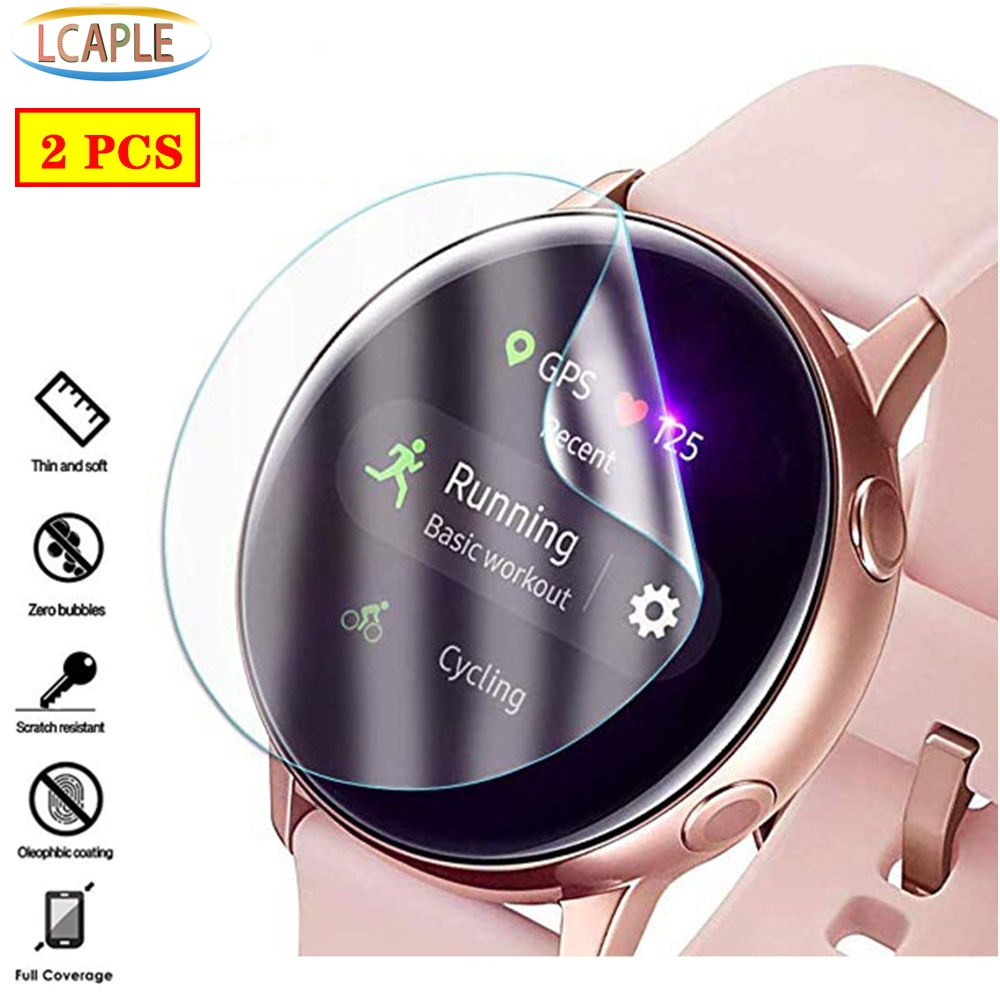 2PCS Screen Protector For Samsung Galaxy watch active 2 44mm 40mm 3D HD Ultra-thin Full Protective f
