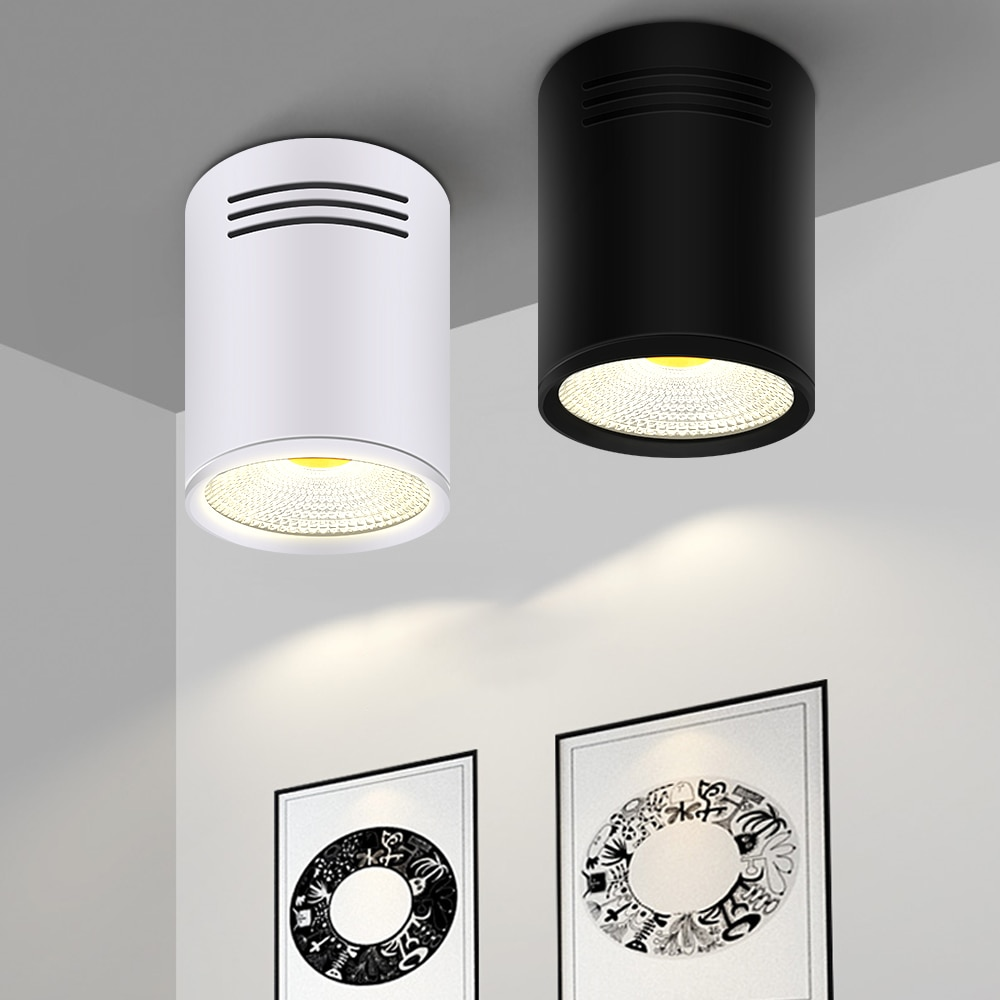 LED Downlights 3W 5W 7W 10W 15W Surface Mounted Ceiling Lamps Spot Light AC85-265V Surface Mounted Down Light White/Warm white  - buy with discount
