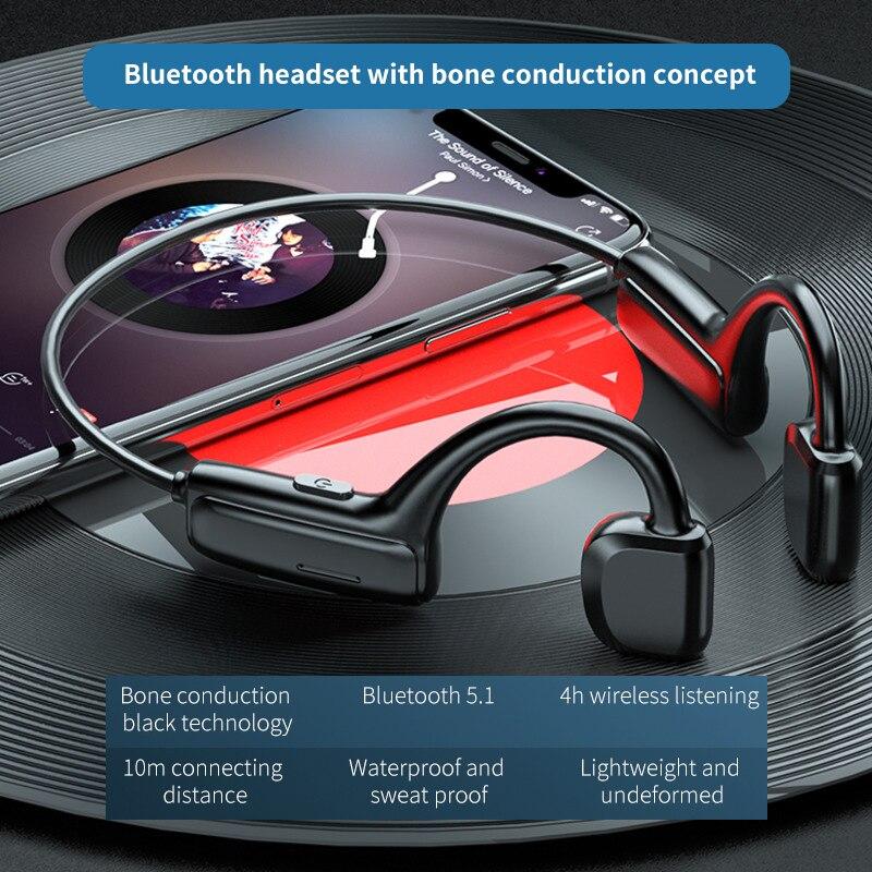 5.0 Bluetooth earphones G1 Sports Wireless Headset Ear-hook Air Bone Conduction Principle Stereo HIFI headphones with microphone