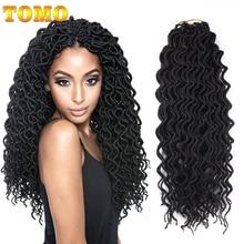 Tomo 24 raízes encaracolado faux locs crochê cabelo 18 Polegada sintético ombre trança extensões de cabelo para mulheres crochê tranças preto vermelho