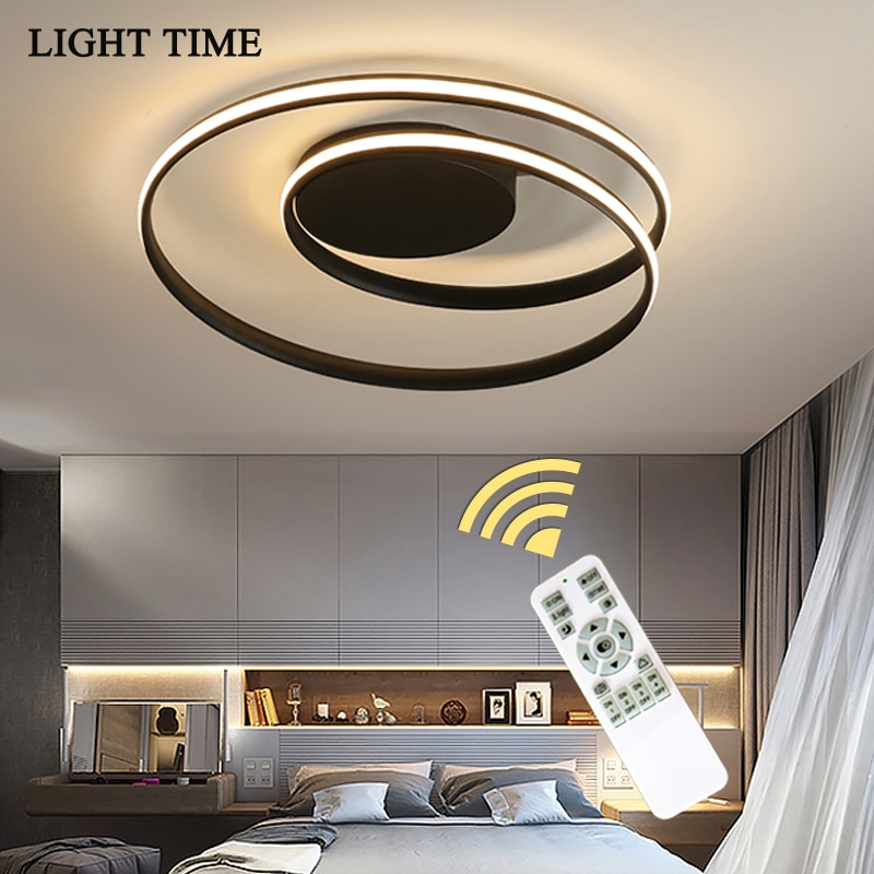 Remote Control Simple Modern Led Ceiling Lights For Bedroom Living room Dinning room Home Ceiling Lamp Lustre Lighting Fixtures 2019 trazos pendant lights led modern for dinning room wooden metal suspension hanging ceiling lamp home lighting for kitchen
