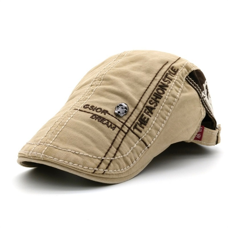 Летние спортивные хлопковые береты для улицы, кепки для мужчин, повседневные остроконечные кепки, головные уборы с надписью береты с вышивк...