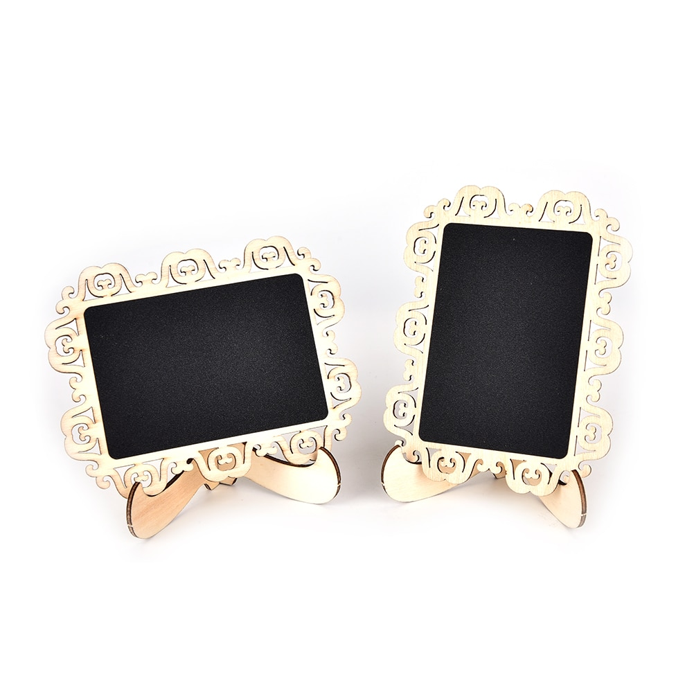 Vintage lace Hollow style blackboard with stand DIY Writing Message Board gift office school supplies Presentation Boards 1set