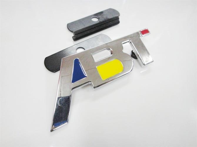 ¡OFERTA DE 2015! insignia para parrilla frontal 3D de Metal cromado ABT emblema apto para Jetta para Audi series envío gratis