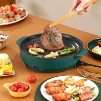 coverless electric oven multi function barbecue plate korean electric frying pan household indoor smokeless iron barbecue plate