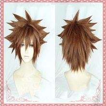 Game Sora Cosplay Hair Wig Heat Resistant Synthetic Wig Halloween Carnival Party