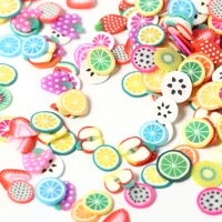 summer mixed flower fruit animal polymer clay slices 3d nails art accessories slicing nail decorations ongles diy designs tools