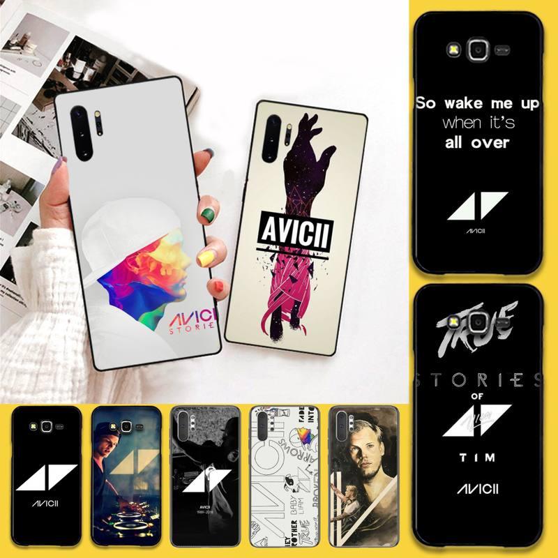 HPCHCJHM Avicii funda negra suave para teléfono Samsung Galaxy J7 J8 J6 Plus 2018 Prime Note 7 8 9 10 pro