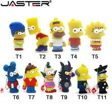 JASTER Bart Simpson Mouse Wolf 4 ГБ 8 ГБ 32 ГБ 64 Гб карта памяти U Disk PenDrive Homer Pen Drive USB Flash Drive