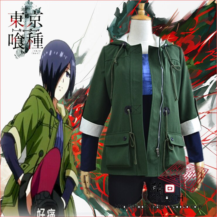 Tóquio ghoul touka kirishima cosplay traje fantasia