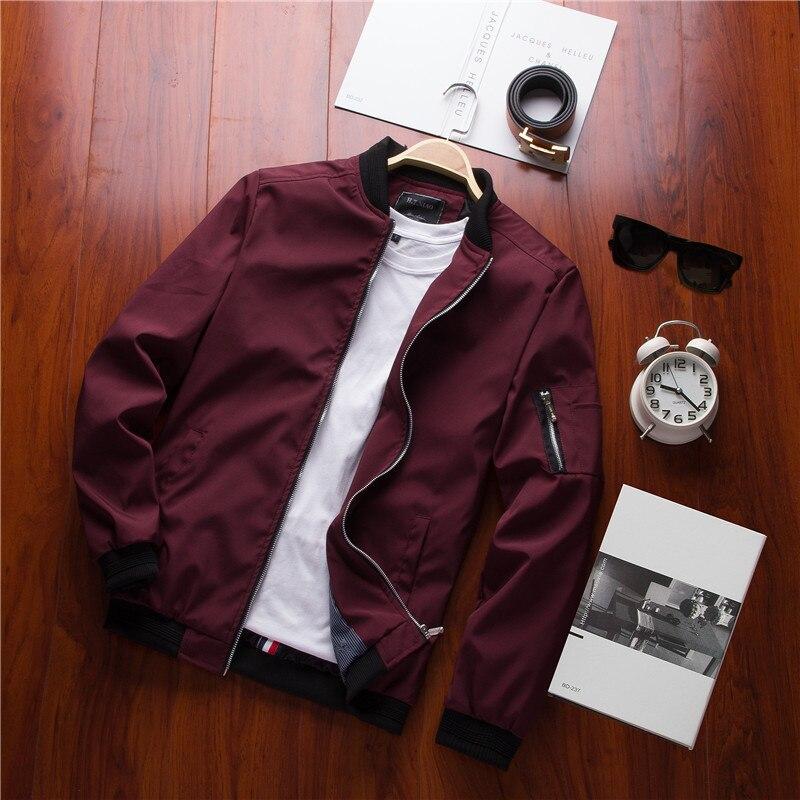 Бомбер мужской на молнии, повседневная приталенная куртка-бомбер, большие размеры 6XL