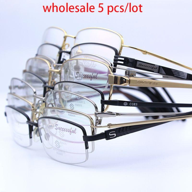 Cubojue الجملة النظارات الإطار الرجال التيتانيوم نظارات رجل بيع السائبة في الكثير 5 قطعة/الوحدة