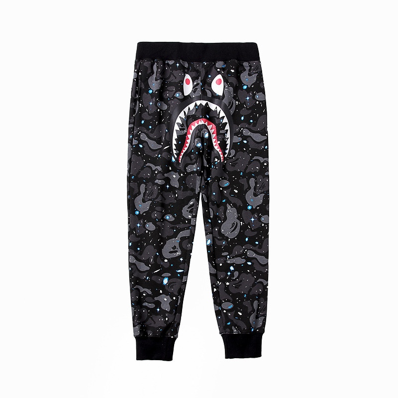 Autumn Winter 2020 Men's Clothing Camouflage Starry Sky Casual Trousers Strange Animal Pattern Lace-up Sweatpants Japanese Style