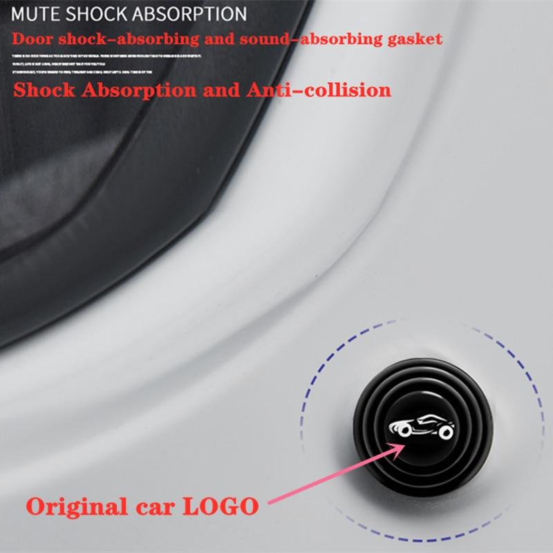 Автомобильные звукоизоляционные буферные наклейки, дверной амортизатор для Renault Koleos, Kadjar, Scenic, Megane, Sandero, Espace, Clio, Captur, Kangoo