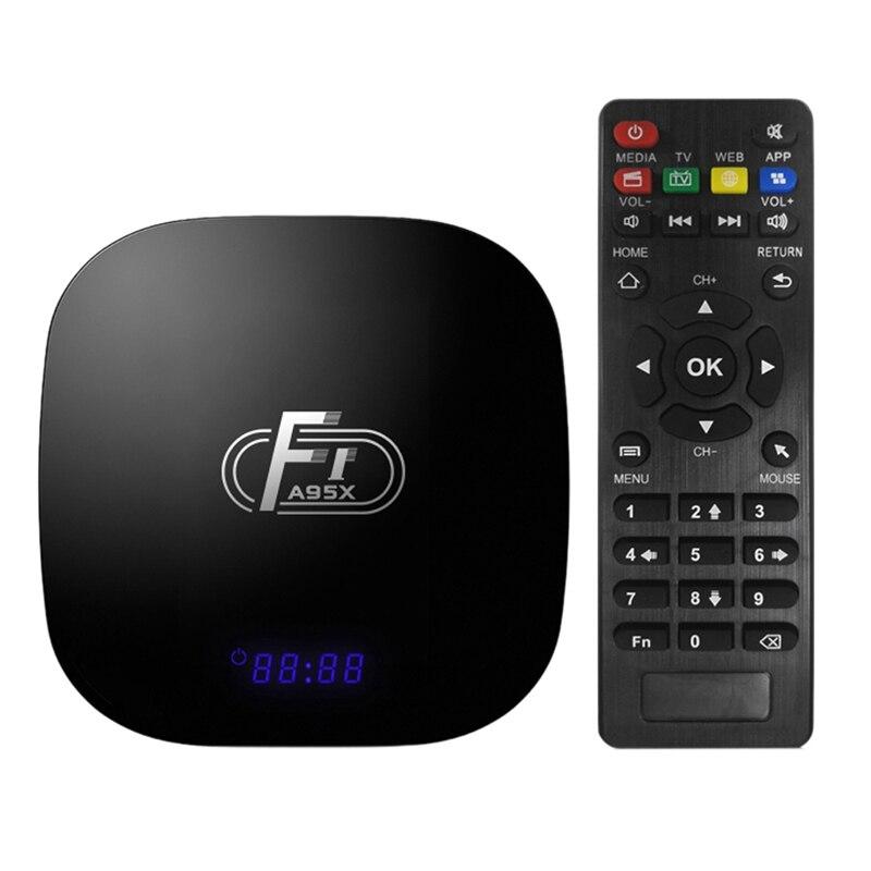Caja de Tv inteligente A95X F1 Android 8,1 Tv Box Amlogic S905W Set Top Box Control remoto Quad Core Vp9 H.265 2 Gb/16 Gb 2,4G Wifi Hd caja L