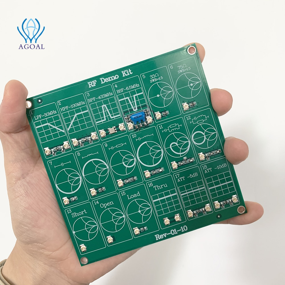 RF Test board Vector Network Test Filter / Attenuator RF Demo Kit For NanoVNA-F WITH 2 CABLES enlarge
