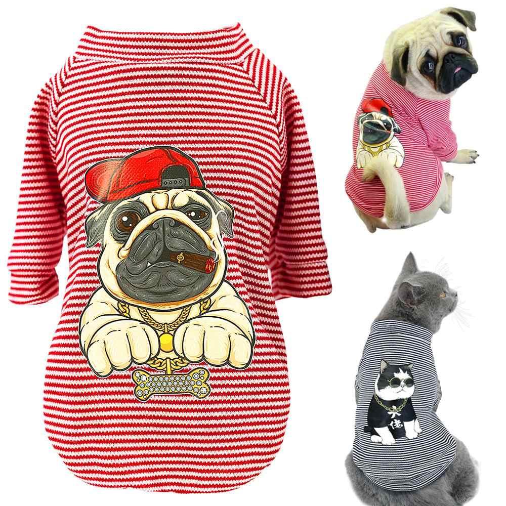 Playera Para Mascota Ropa Bonita Para Perros Bulldog Francés Camiseta De Algodón A Rayas De Chihuahua Chaleco De Pijama Informal Para Gato Para Mascota Pequeña Mediana S Xl Q40 Camisetas De Perro