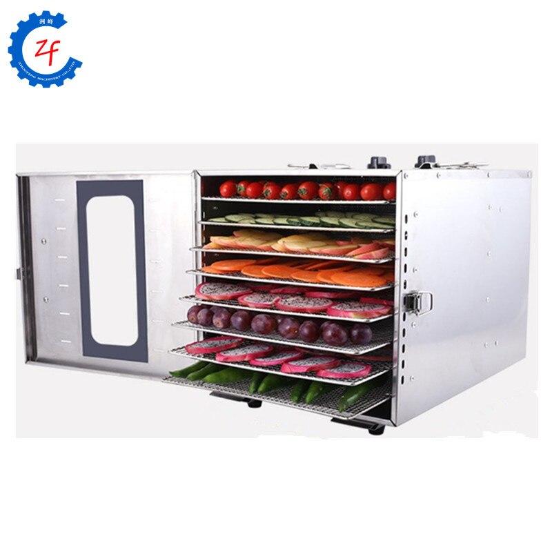Máquina deshidratadora de alimentos comercial 8 bandejas tomate patata mango limón chips