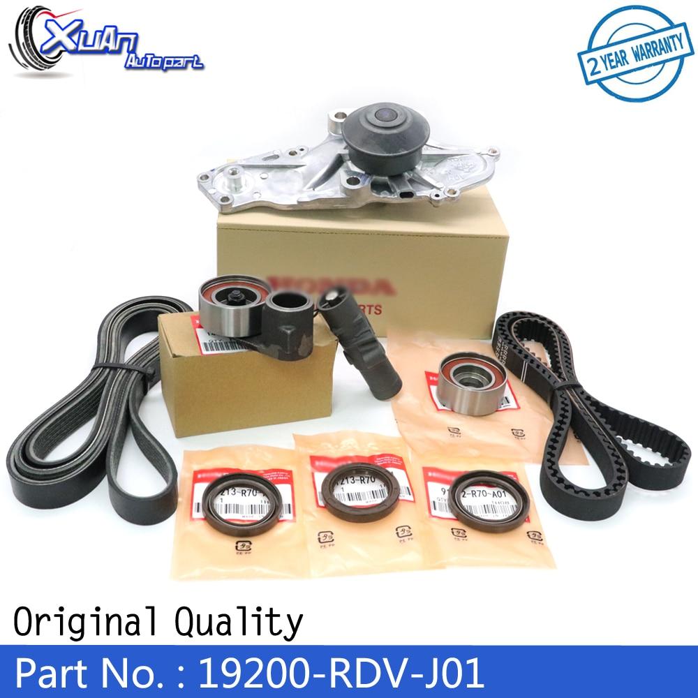 XUAN Engine Timing Belt Kit Idler Water Pump Crankshaft Cam Seal 19200-RDV-J01 For ACURA MDX HONDA ODYSSEY PILOT RIDGELINE 3.5L