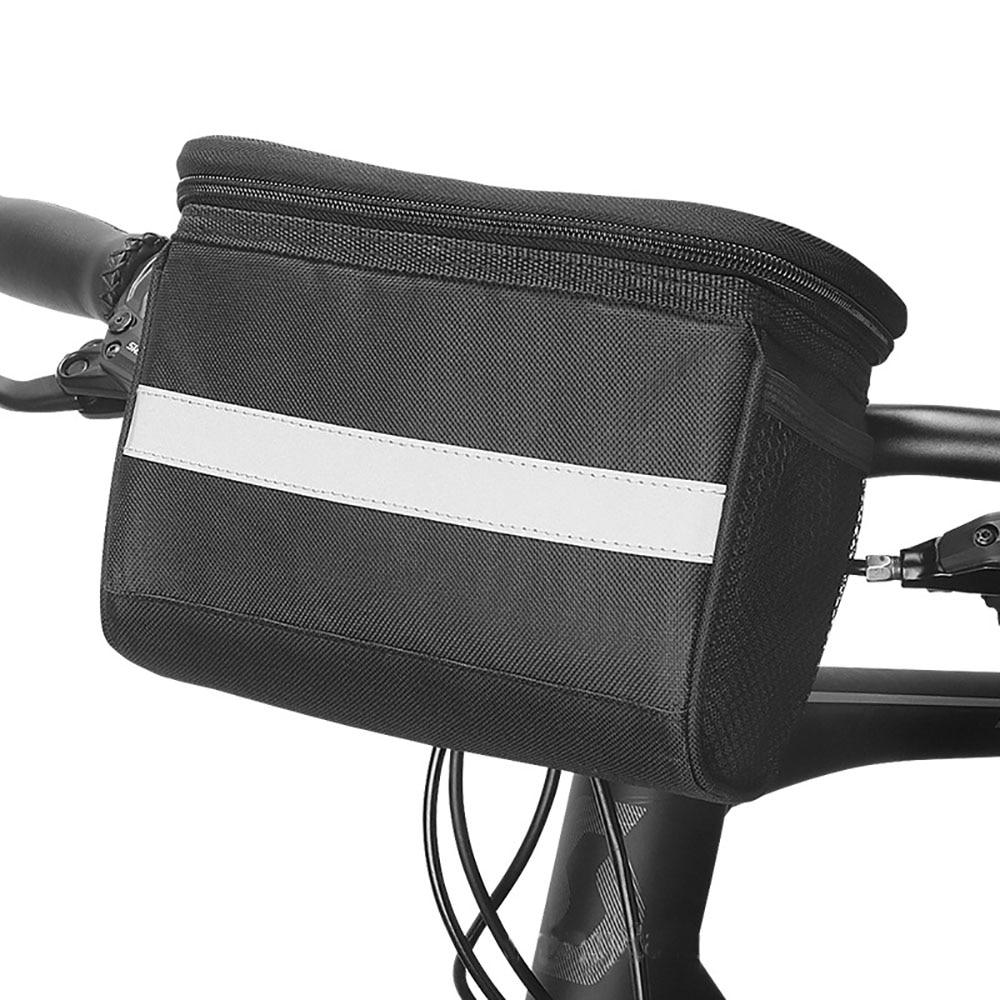 TOTNEND Bicycle Front Bag MTB Bike Handlebar Bags Bike Basket Pannier Saddle Bag With Reflective Strip Bike Accessory Polyester