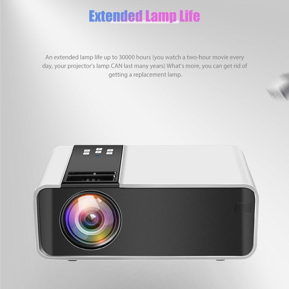 جهاز عرض صغير TD90 تحديث الأصلي 1280x720P المحمولة العارض 40 درجة كيستون أندرويد واي فاي ثلاثية الأبعاد السينما المنزلية الفيديو