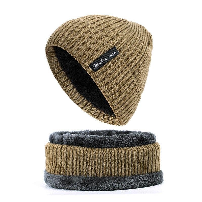 Новинка, зимние шапки для женщин, теплые шерстяные облегающие шапки, трикотажные Модные мужские шапки, шарф, комплект Балаклавы, маска, мужс...