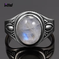 oval 8x10mm natural moonstone ring 925 sterling silver jewelry gemstone rings luxury fashion rings for women