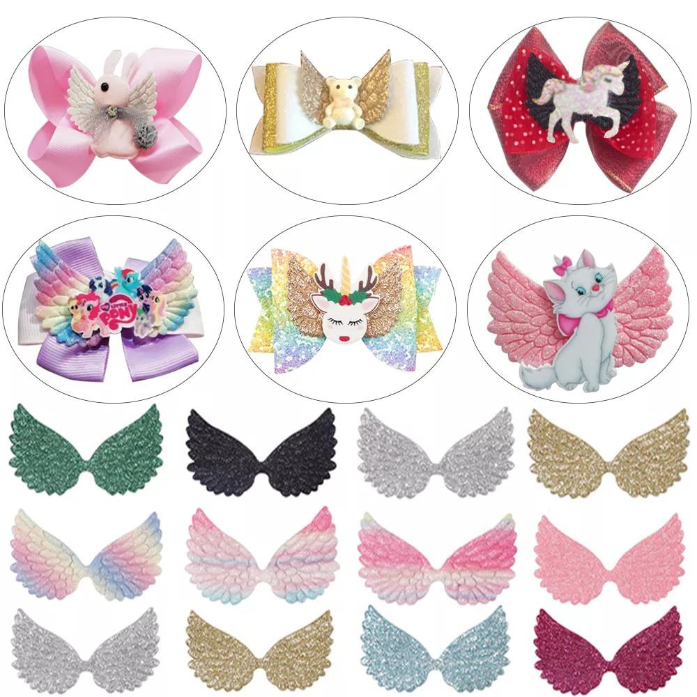 AliExpress - 20 Pcs Sequin Glitter Wing Patches for clothes Iron-on transfers for clothing Sewing Appliques DIY Hair Clips Headwear Accessory