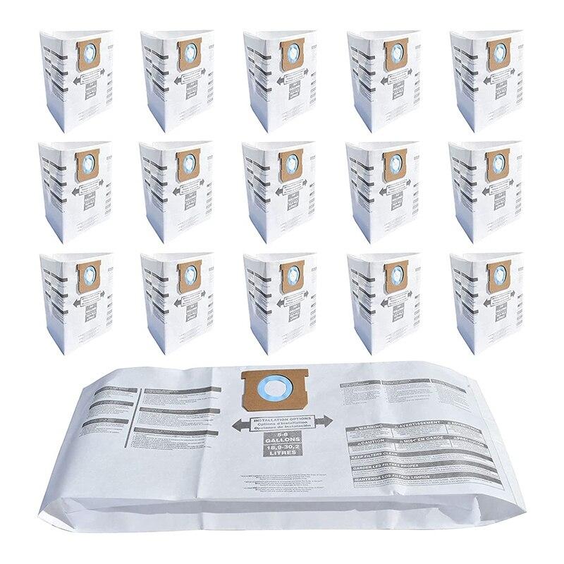 16 حزمة مرشح مكنسة/فلتر مكنسة حقيبة لمتجر-Vac 5-8 جالون نوع E ، الرطب الجاف المتاح أكياس مكنسة ، جزء رقم 9066100 90661 906-61