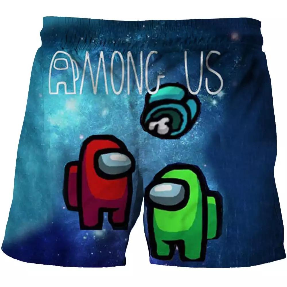 Summer Children 3D Cartoon Us Popular Game Beach Shorts Boys Casual Sportswear 2-14 Years Old Baby