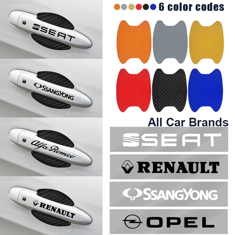 8 pièces/ensemble voiture porte poignée Protection Film décoration autocollants pour Honda Mugen puissance civique Accords CRV Hrv Jazz CBR VFR Auto marchandises