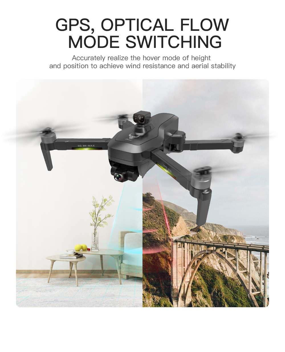 ZLRC SG906 PRO складной Дрон Zenfone 3 MAX GPS 5G WI-FI с видом от первого лица с разрешением 4K HD Камера 3-осевой EIS Anti-shake Gimbal обходом препятствий Квадрокоптер