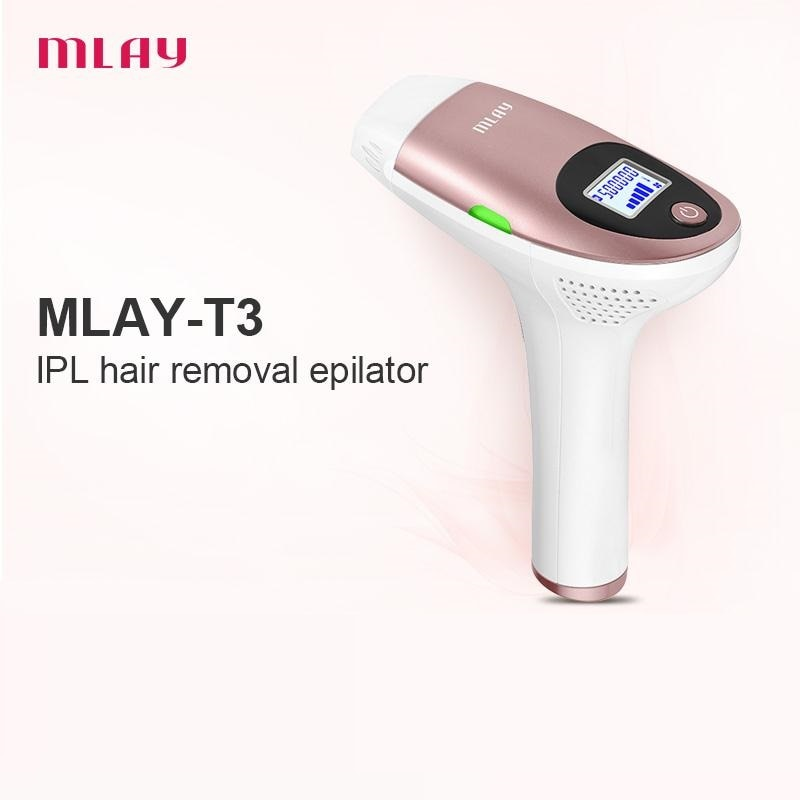 Original Authentic MLAY Permanent IPL Laser Hair Removal Home Use Machine Body Pubic Epilator for Women Men 500000 Flashes enlarge