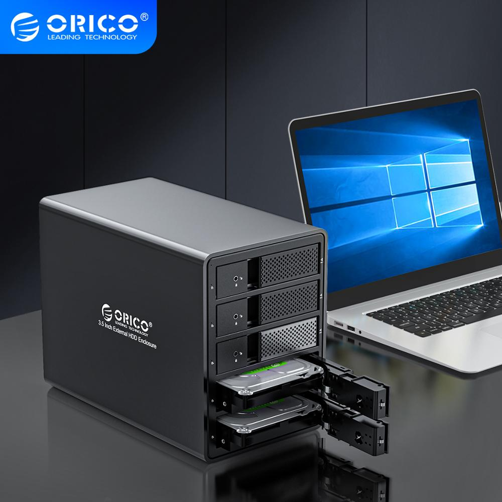 ORICO 95 Series Multi Bay 3.5'' Aluminum HDD Docking Station 16TB Single SATA to USB3.0 150W Internal Power HDD Enclosure Raid