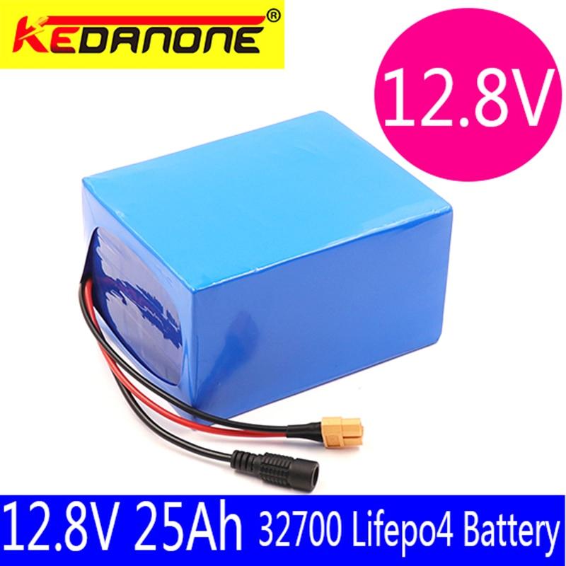 Kedanone-بطارية Lifepo4 32700 4S3P 12.8V 25Ah مع BMS 4S 40a متوازن للقارب الكهربائي ومصدر طاقة غير منقطعة 12V