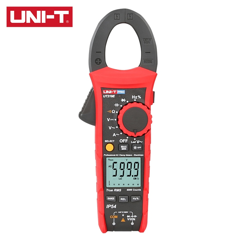 UNI-T UT219E/UT219M/UT219DS المهنية المشبك متر صحيح RMS LoZ المدخلات ل شبح الجهد قياس CAT IV 600V