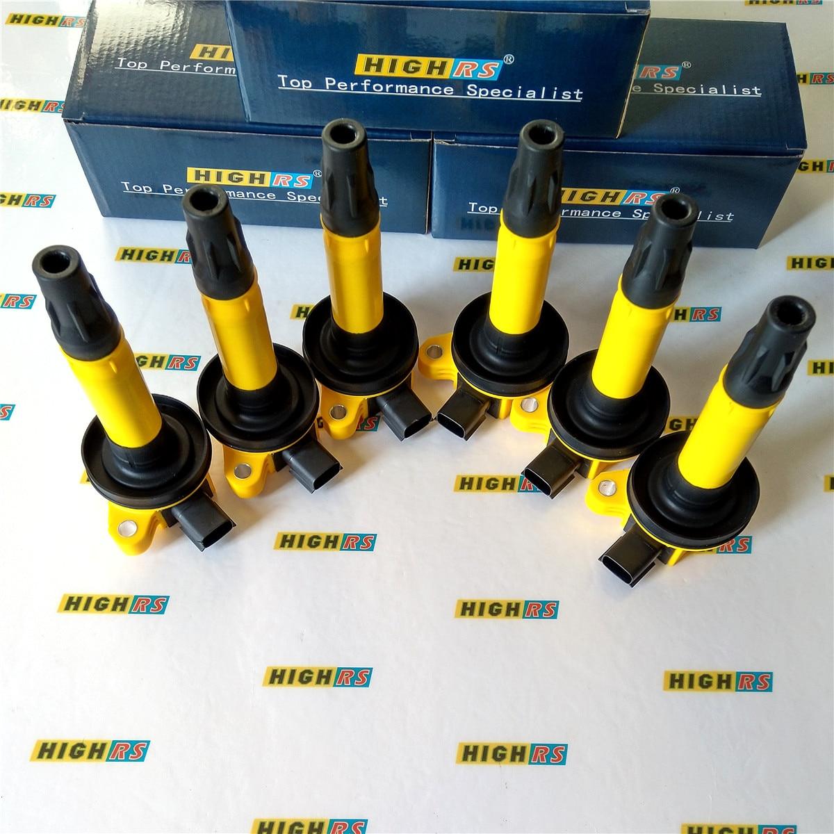 Bougie dallumage flexible FUSION F150, 6 bobines de PERFORMANCE MKZ MKX MKS MKT GN10237 DG520 DG-520