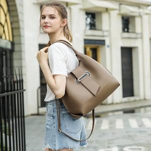 New Ladies Shoulder Bag Shape 3 Piece Set Shoulder Bucket Bag Ladies Messenger Bag Mobile Phone Bag Wallet Ladies Messenger Bag