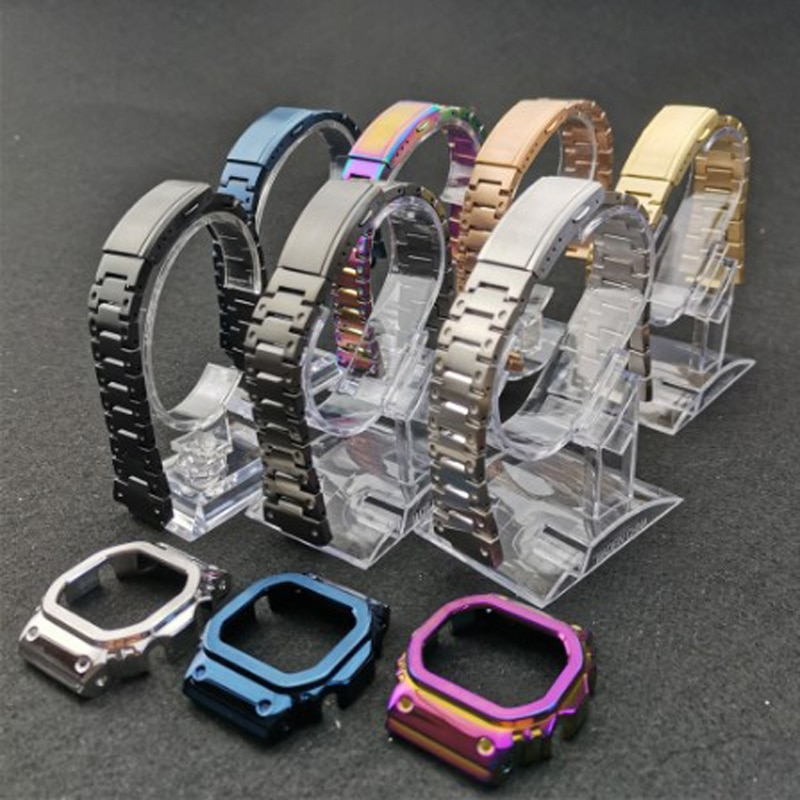 Watch Strap Watchbands Bracelet Fit For Watch DW5600 DW5610 GMWB5000 GW5600 Series Wholesale  Stainless Steel Watch Bands enlarge