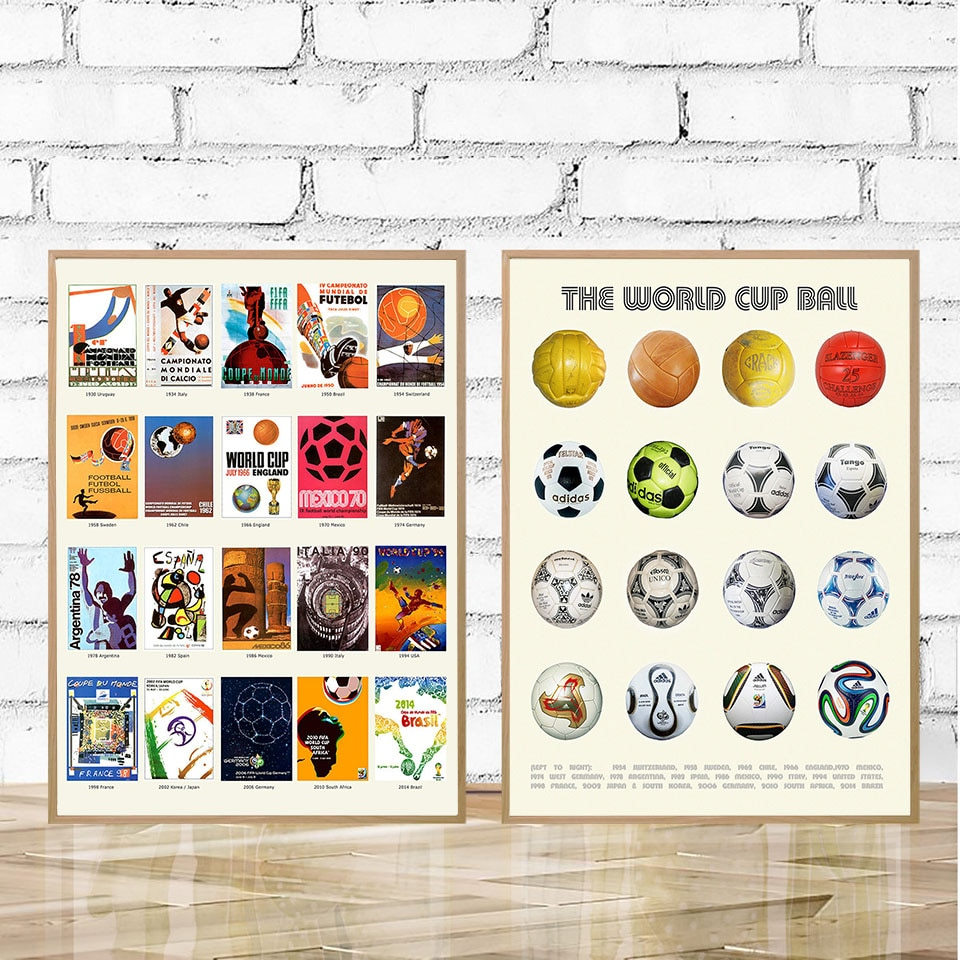 The World Cup History Poster Canvas Painting Soccer Ball Wall Art Print Minimalism Modern Picture For Living Room Home Decor